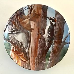 Knowles - Downy Woodpecker Collector Plate 1987